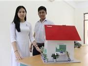 """Học sinh phổ thông thiết kế nhà để """"sống chung"""" với ô nhiễm"""