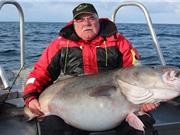 Cụ ông người Anh câu được cá tuyết 42 kg