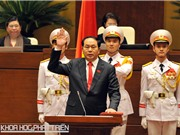 Tân Chủ tịch nước Trần Đại Quang thề tuyệt đối trung thành với Tổ quốc