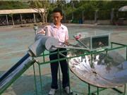 Học sinh lớp 11 và thiết bị biến nước mặn thành ngọt
