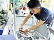 Chế xích lô chạy bằng năng lượng mặt trời