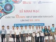 400 thí sinh dự thi Olympic Vật lý sinh viên toàn quốc
