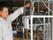 Nông dân tự chế máy lọc nước mặn thành ngọt