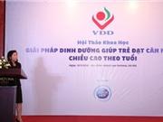 50% trẻ em Việt Nam có khẩu phần ăn thiếu vi chất dinh dưỡng