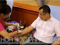 Lãnh đạo, cán bộ, người lao động Bộ KH&CN tham gia hiến máu tình nguyện