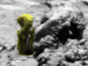 Phát hiện chai lọ, tượng sinh vật lạ trên sao Hỏa
