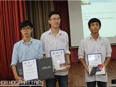 """3 học sinh Bắc Giang giành giải thưởng Olympic Vật lý """"Giáo dục hạt nhân ở Nga"""""""