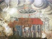 Hình vẽ lạ nghi là UFO trên tranh tường 400 năm tuổi