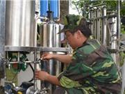 Chế tạo thiết bị lọc nước cơ động phục vụ bộ đội