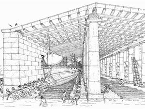 Tổ hợp căn cứ lớn nhất thế giới của hải quân Hy Lạp cổ đại