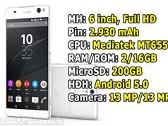 Smartphone viền siêu mỏng, camera selfie 13 MP của Sony giảm giá sốc