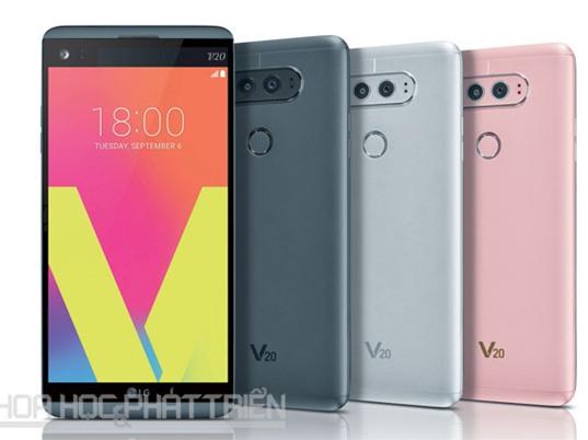 LG ra mắt V20: Camera kép, chip Snapdragon 820