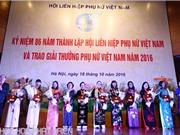 Trao giải thưởng Phụ nữ Việt Nam cho 16 tập thể, cá nhân xuất sắc