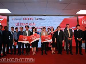 Giải Khởi nghiệp Lotte 2016 đã có chủ