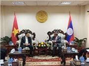 Bộ trưởng Chu Ngọc Anh sang thăm và làm việc tại Lào