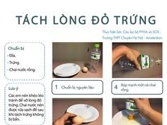 Thử sức cùng khoa học: Dễ dàng tách lòng đỏ trứng với đĩa và chai nước