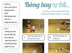 Thử sức cùng khoa học: Dùng chai nước, bột baking soda để... thổi bong bóng