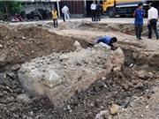 Làm đường ở Sài Gòn phát hiện mộ cổ nghi của vị quan