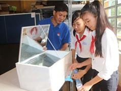 Nữ sinh lớp 8 chế thiết bị lọc nước mặn thành ngọt bằng năng lượng mặt trời