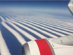 Mây xếp hàng thẳng tắp trên bầu trời Australia