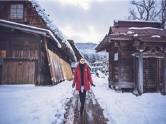 Vẻ đẹp tựa cổ tích của ngôi làng ngập trong tuyết trắng