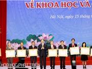 Chủ tịch Nước trao Giải thưởng Hồ Chí Minh về khoa học và công nghệ