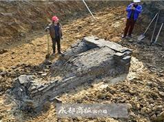 Phát hiện tượng lính gác, tiền xu trong cổ mộ thời Tống