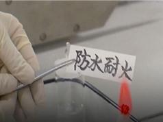 Trung Quốc tạo ra giấy ngâm không ướt, đốt không cháy