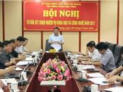 Sở KH&CN Hà Giang thông báo tuyển chọn tổ chức và các nhân chủ trì đề tài KH&CN cấp tỉnh 2017