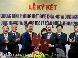 Bộ Khoa học và Công nghệ và Bộ Công thương ký kết chương trình phối hợp hoạt động