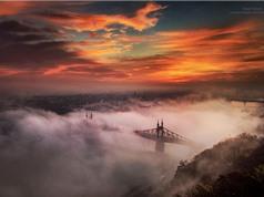 """Budapest biến thành """"thiên đường trần gian"""" nhờ… sương mù"""