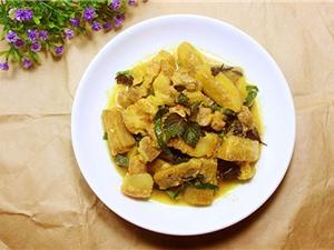 Tuyệt chiêu nấu món thịt ba chỉ om chuối cực ngon