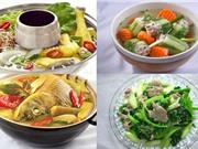 Món ngon trong tuần: Thịt ba chỉ om chuối, canh dưa leo nhồi thịt