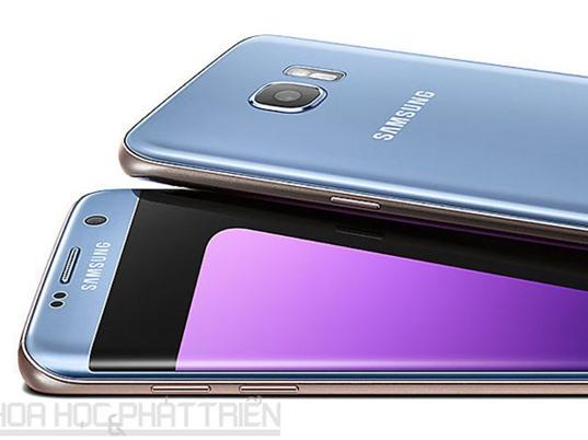 Samsung Galaxy S7 Edge màu xanh coral giảm giá 1,5 triệu đồng