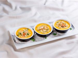 Đổi khẩu vị với món trứng hấp tôm nấm
