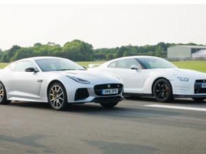Clip: Màn đua tốc độ giữa Jaguar F-Type SVR với Nissan GT-R