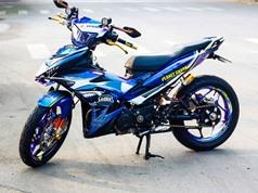 Exciter 150 sơn dàn vỏ chuyển màu của biker Trà Vinh