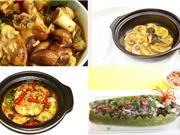 Món ngon trong tuần: Thịt heo nấu giả cầy, cá lóc hấp bầu, cà bát om thịt ba chỉ