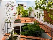 Nắng tràn ngập trong ngôi nhà cong, sâu hun hút ở Sài Gòn