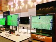 Cận cảnh TV OLED uốn dẻo có thể dính tường của LG