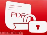 Hướng dẫn cách chặn tính năng copy, chỉnh sửa, in ấn trên file PDF