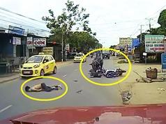 Clip: Vượt xe taxi, 2 nam thanh niên nhận cái kết đắng