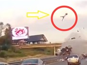 Clip: Ghê rợn với những tai nạn xe hơi khiến người văng ra ngoài