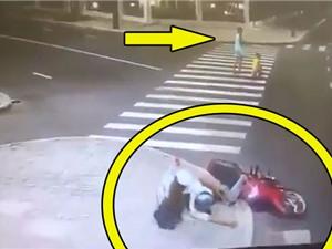 """Clip: Dính tai nạn """"cay đắng"""" vì mải nhìn gái xinh"""