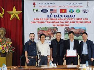 """Thêm 10 """"cỗ máy sản xuất bò thịt chất lượng cao"""" mới về Việt Nam"""