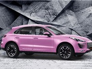 Hàng nhái Porsche Macan phiên bản màu hồng giá 'siêu rẻ'