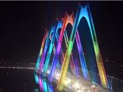 Chiêm ngưỡng vẻ đẹp của cầu Nhật Tân về đêm