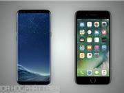Top 10 smartphone mạnh nhất thế giới: Galaxy S8 Plus xếp sau iPhone 7 Plus