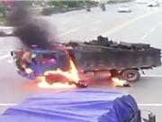 """CLIP HOT NHẤT TRONG NGÀY: Xe máy gây tai nạn kinh hoàng cho xe tải, """"sói sông"""" ác chiến cá sấu"""