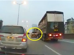 Clip: Xe tải và Ford Ranger chèn ép nhau trên đường Hà Nội